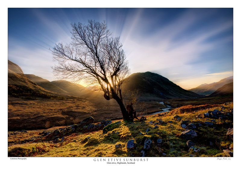 Glen Etive Sunburst - The Light Captured