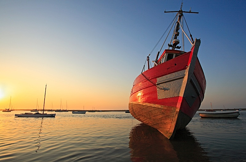 Red Boat - Brancaster Staithe