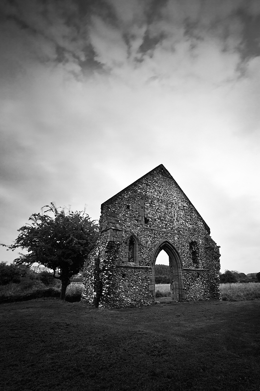 Priory church of St. Mary, Burnham Norton. - Ruins
