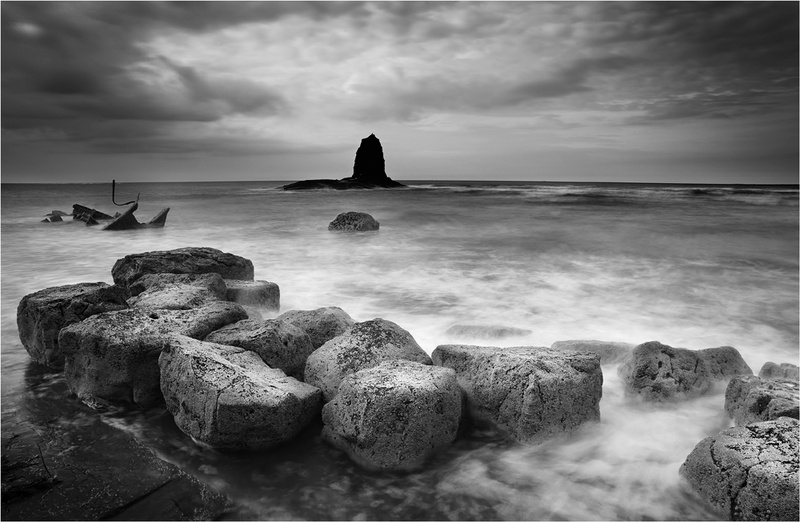 Unsettled - Saltwick Bay - Whitby - Monochrome