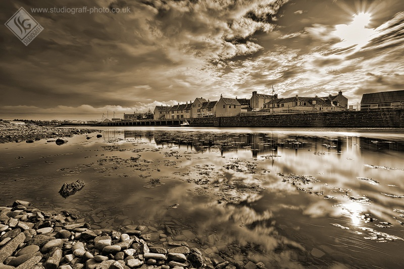 Thurso Harbour Reflection 1 - Places & spaces