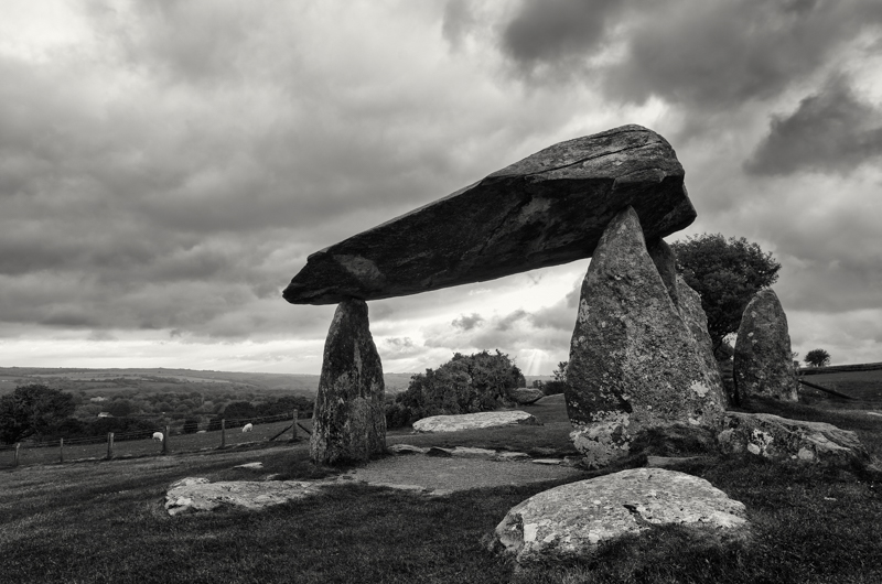 Ancient burial site, Pentre Ifan in the Preseli Mountains, Pembrokeshire, Wales