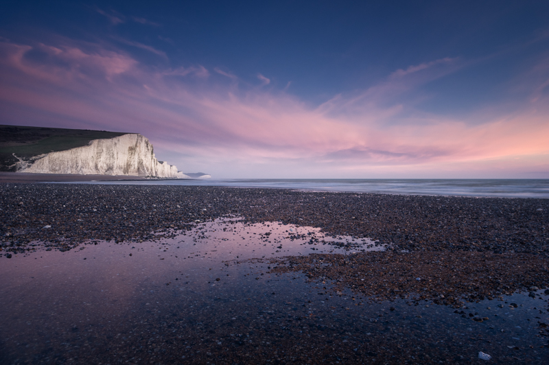 Seven Sisters at Cuckmere Haven during Twilight