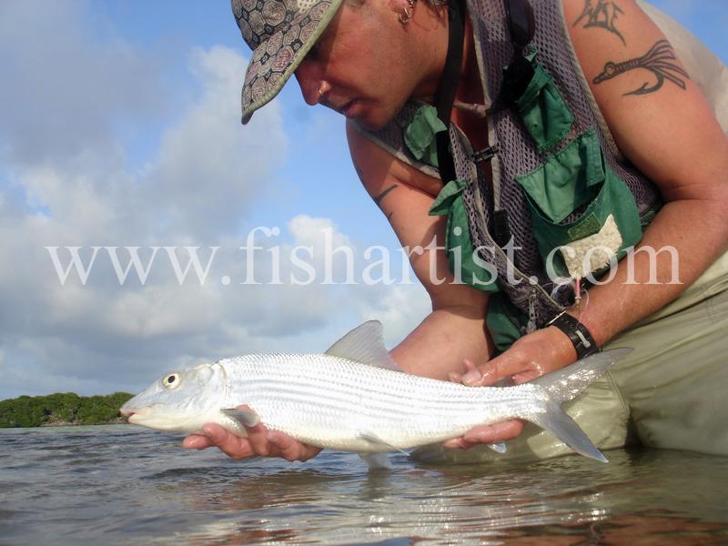 Bonefish Photo - Pure Silver. - Bonefish & Tarpon.