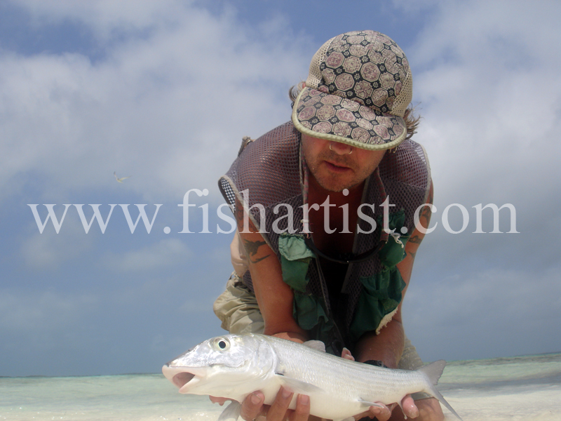 Bonefish Photo - Beach Trophy Shot. - Bonefish & Tarpon.