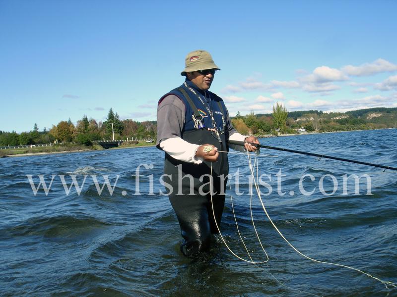 Pat. - Fishermen of Taupo.