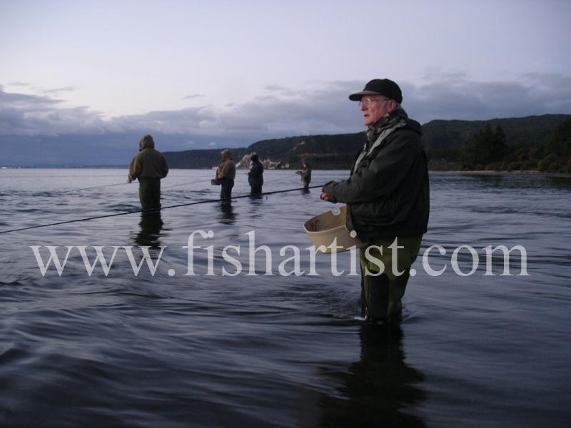 Old Taupo Fisherman. - Trout Fishing - Taupo New Zealand.