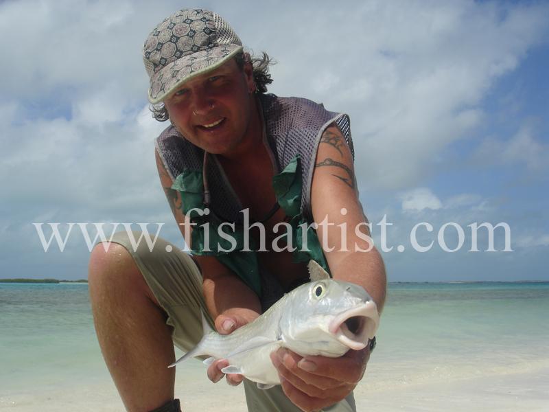 Bonefish Photo - Happy Bone Fisherman. - Bonefish & Tarpon.