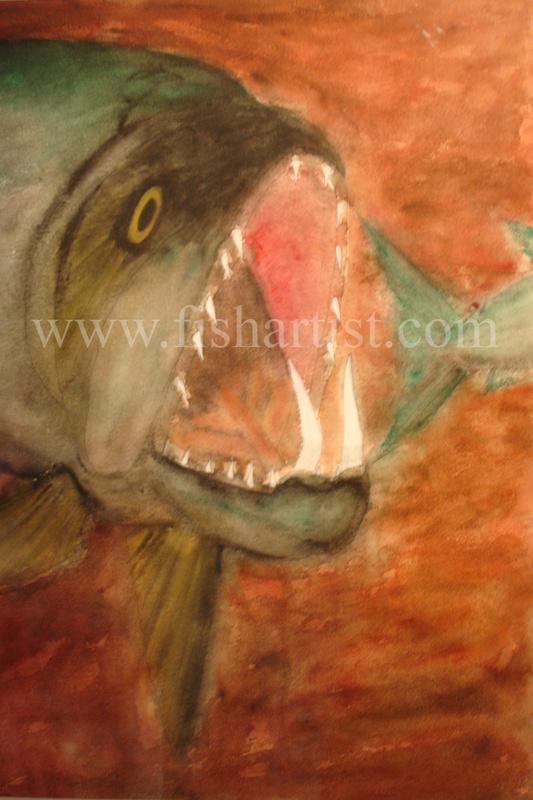 Payara - The Terror! - Fish Art for Fishermen.