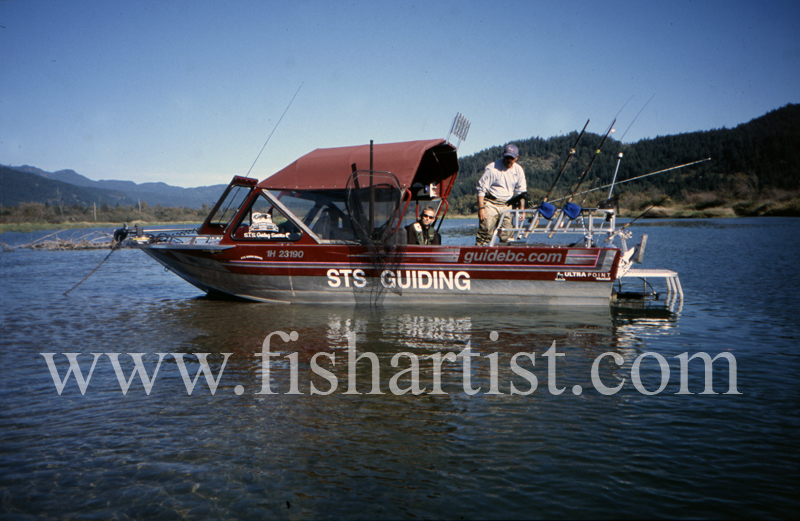STS Guiding - Jet Boat. - Sturgeon of the Fraser River.