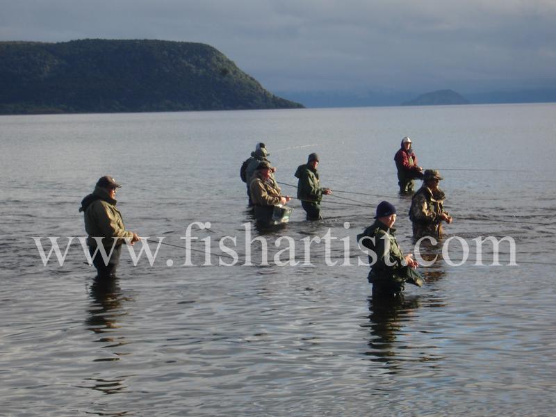 Late Summer - Waitahanui Rip. - Trout Fishing - Taupo New Zealand.