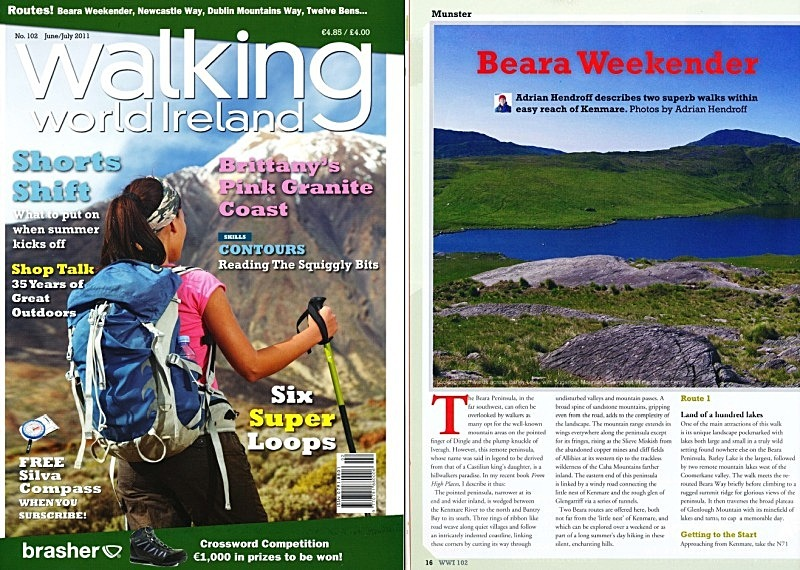 'Beara Weekender' - Walking World Ireland No.102 - In the media
