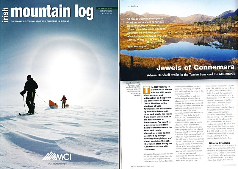 'Jewels of Connemara' - Irish Mountain Log - No.88 Winter 2008 - In the media