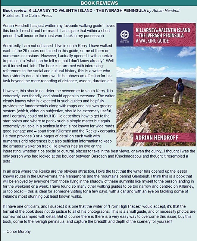 KIllarney to Valentia Island - Mountain Views review - August 2015 Adrian Hendroff Wild Atlantic Way