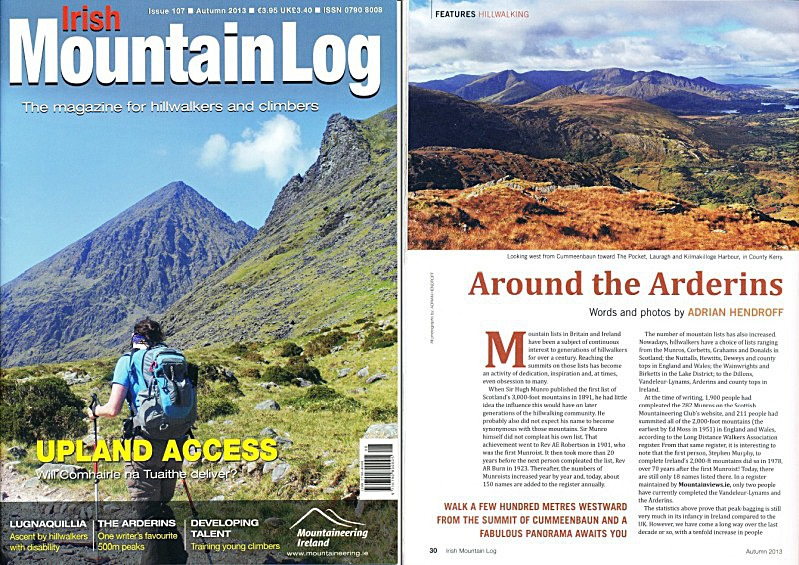 'Around the Arderins' - Irish Mountain Log - No.107 Autumn 2013 - In the media