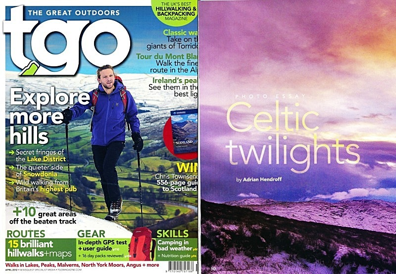 'Celtic Twilights Photo Essay' - TGO - April 2012 - In the media