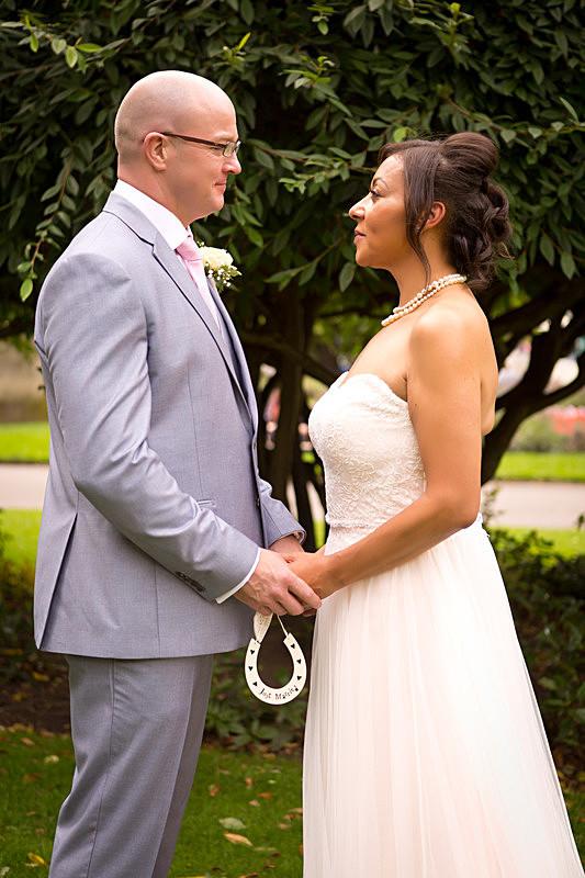 Fenita Photography Studio- bride and groom at St. John's garden