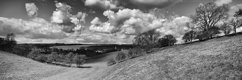 Sunshine and Shade, Warter from Bailey Dale - East Yorkshire