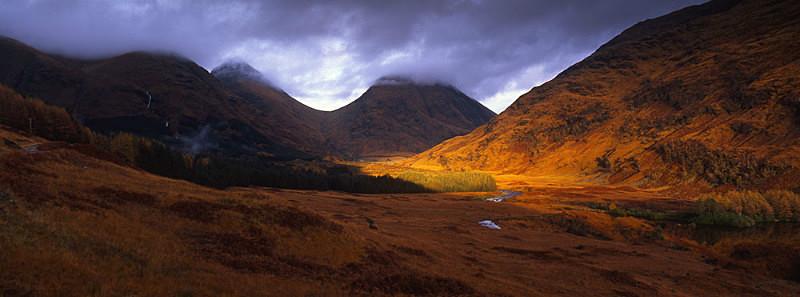 Evenings Golden Glow Glen Etive - Scotland