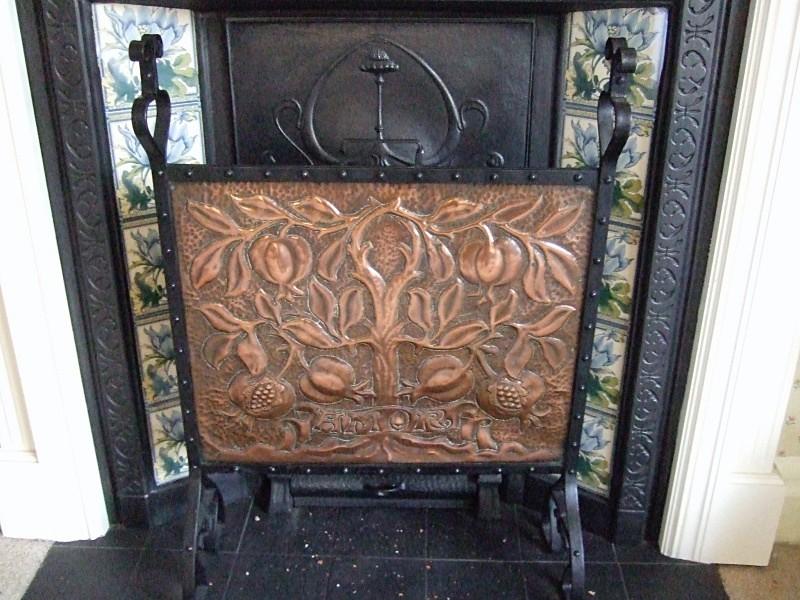 SOLD Arts & Crafts copper firescreen