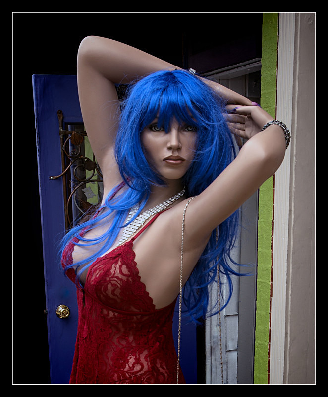 Blue Haired Girl - People