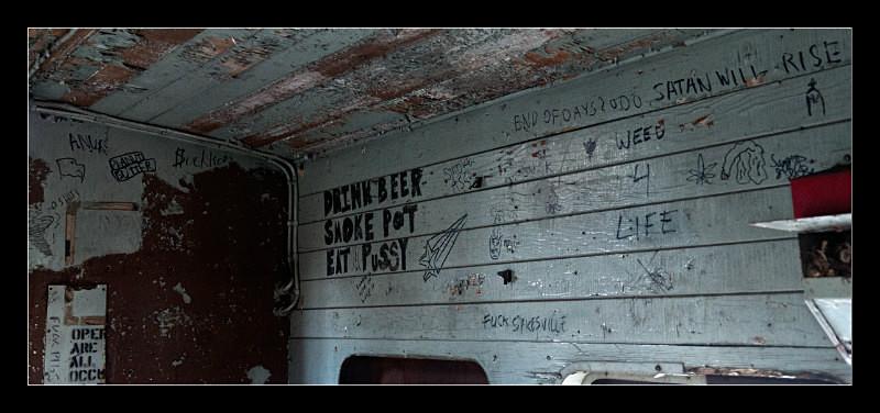 Caboose Graffiti - Railroad