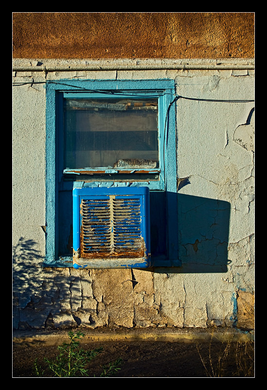 Blue Motel Window - Building Elements
