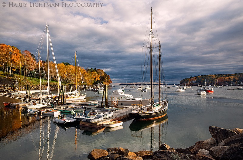 Autumn Fading - Rockport Harbor - Maine Coast & Mountains
