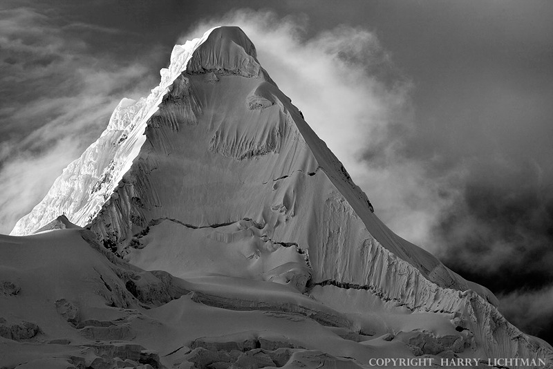 The Perfect Mountain - Alpamayo - Black & White