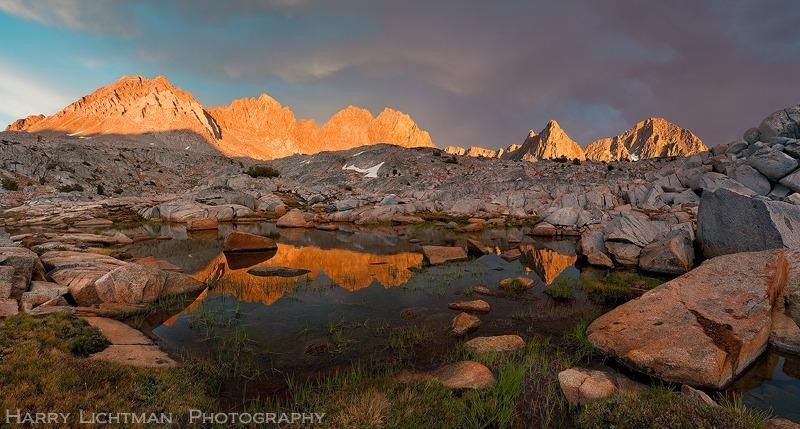 Last Light on the Palisades - Sierra Nevada