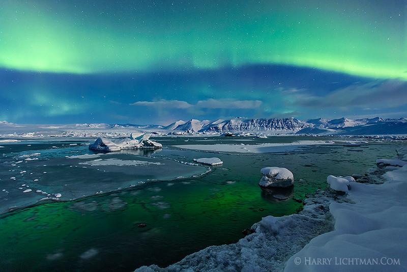 Aurora Rainbow - Iceland Winter