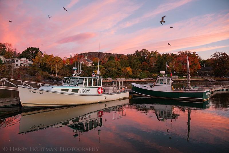 Camden Harbor Sunrise - Maine Coast & Mountains
