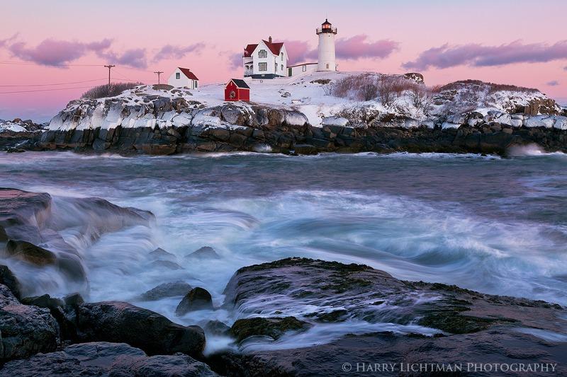 Beautiful Aftermath - Nubble Light - Maine Coast & Mountains