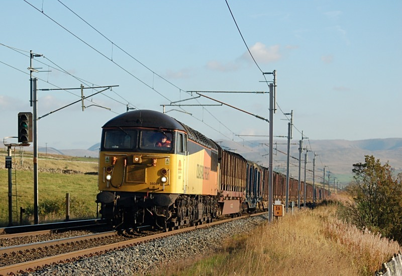 29.9.13 - 56087 6C37 Chirk - Carlisle, Salterwath - West Coast Main Line