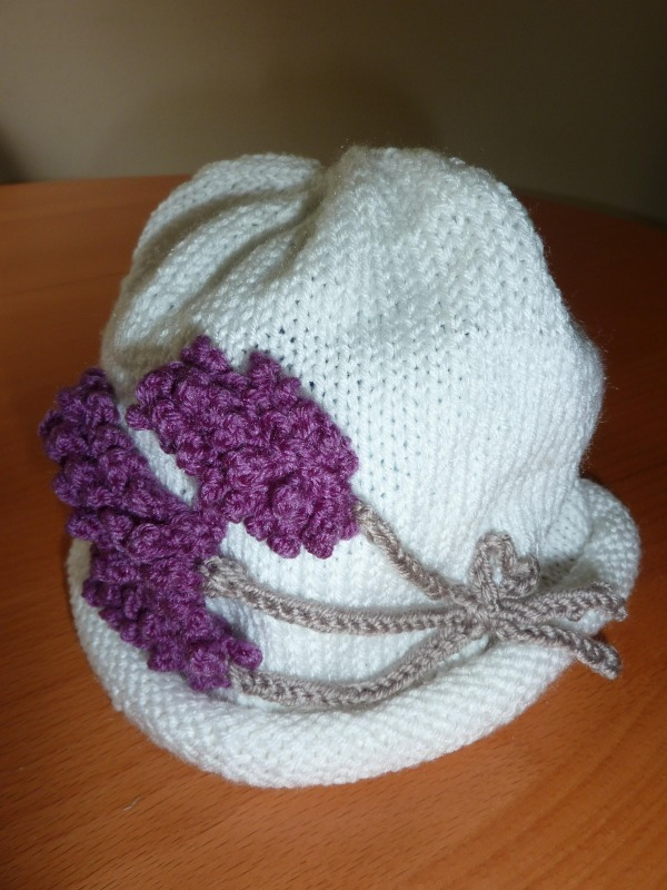lavander hat - Marion Carrier Crafts
