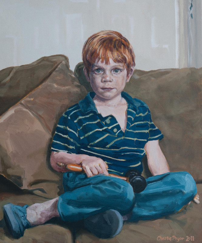 Portrait of a young boy, oil on canvas