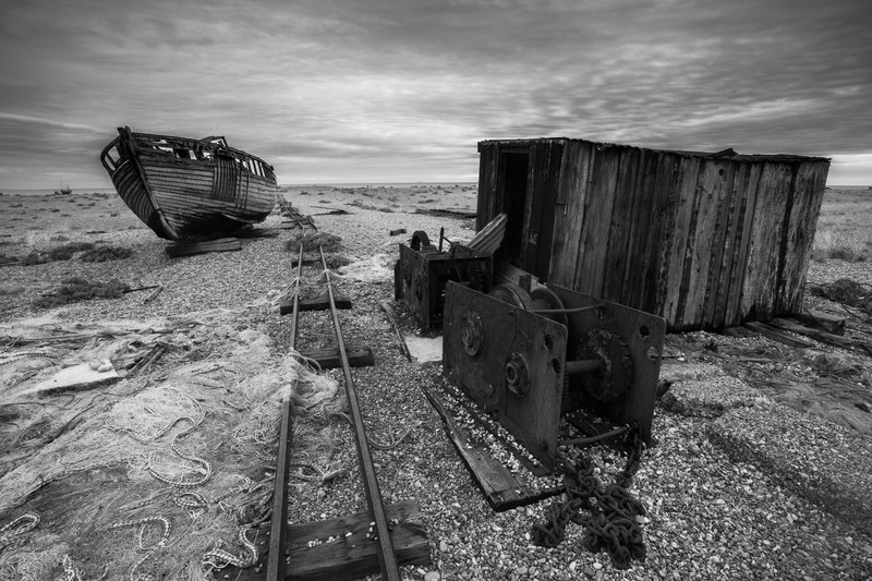 Dungeness. - Monochrome