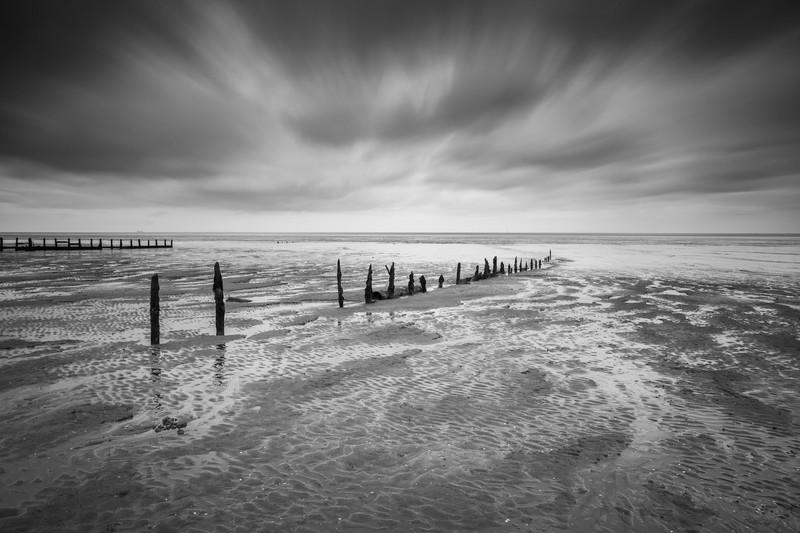 Winter Beach. - Monochrome