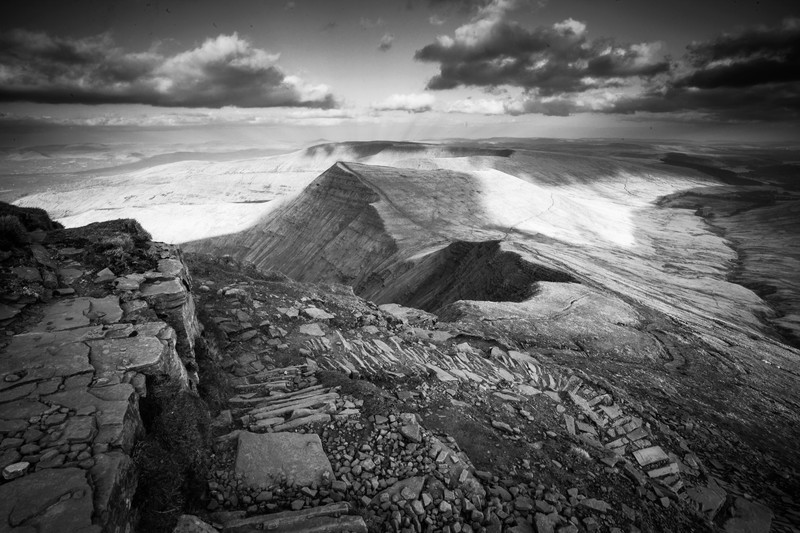 Pen y Fan and the Brecon Beacons National Park. Wales