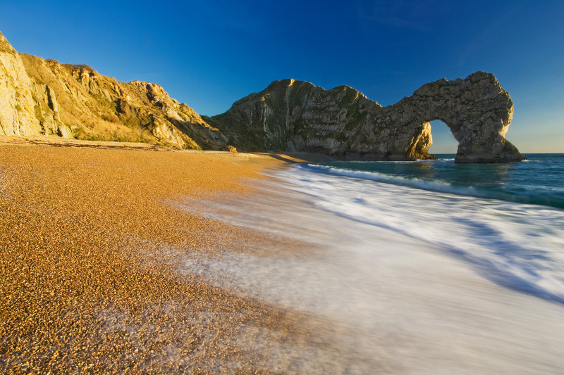 Landscape photography of the Dorset coastline.