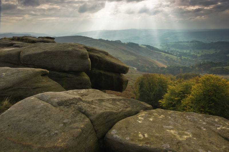 Fine art landscape photography taken from the stunning location of the Peak District National Park.