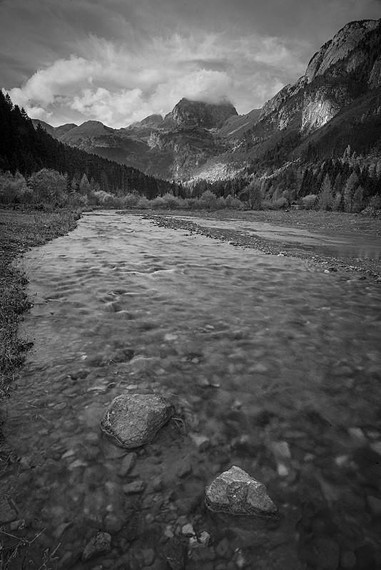 Italian Alps - Monochrome