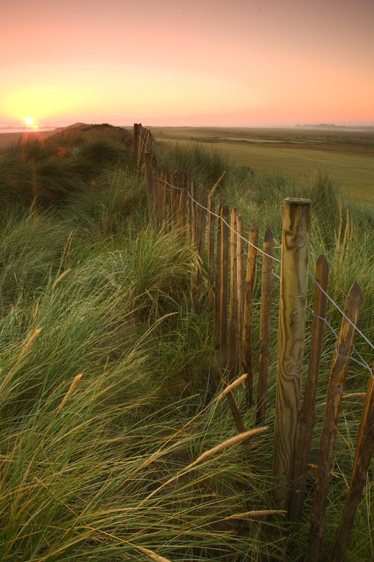 Landscape photography of the Norfolk coastline.