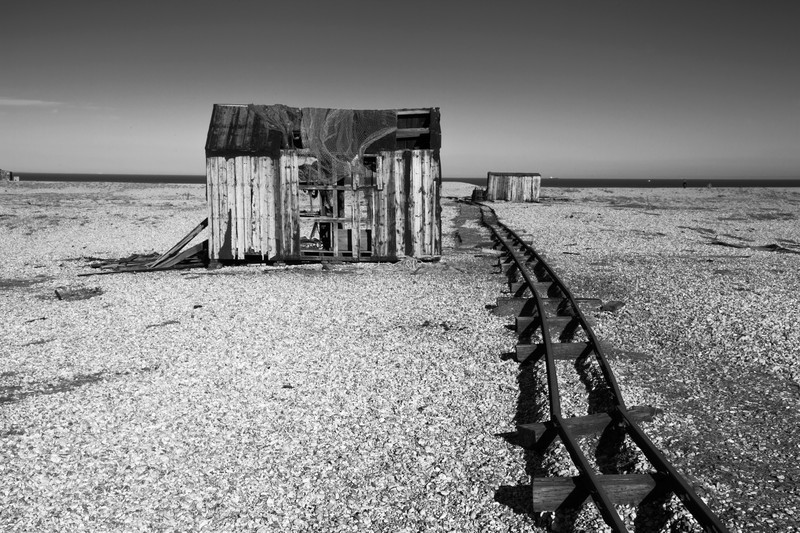 Fishing Shack. - Monochrome