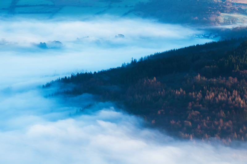 Mist in the Brecon Beacons.