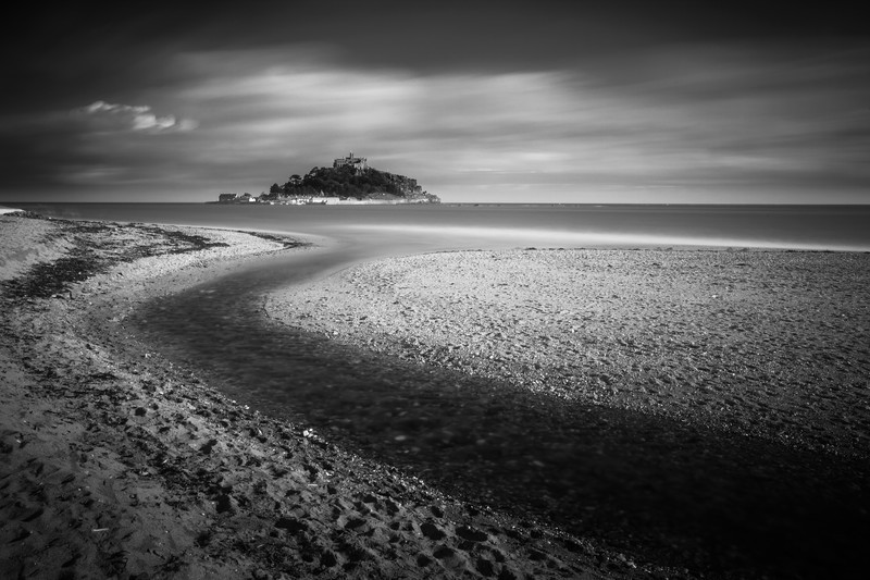 St Michael's Mount. - Monochrome