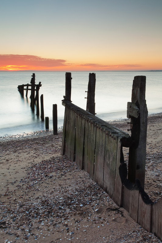 Landscape photography of the Kent coastline.