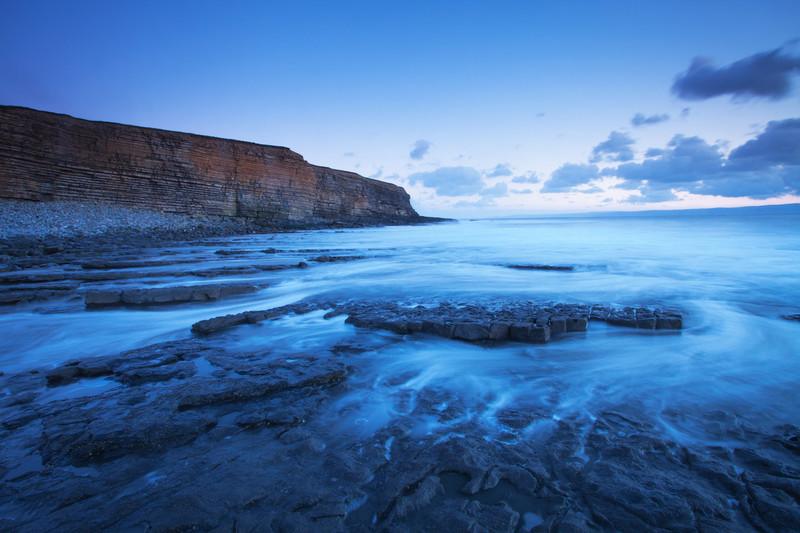 Landscape photography of the Welsh coastline.