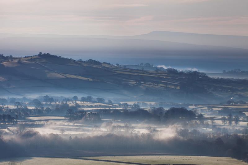 A Foggy Landscape.
