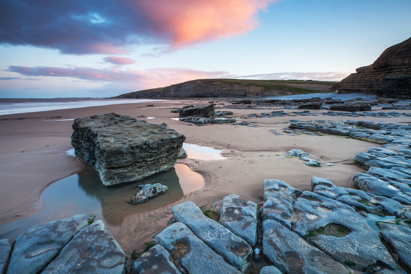 A rural beach near Southerdown in the Vale Of Glamorgan, Wales